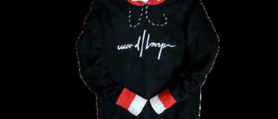 Man's Black & Red Hoodies