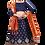 Thumbnail: Woman Blue and Orange Lehenga