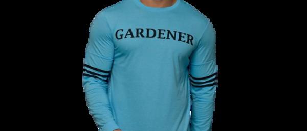 Men  Sky Blue Printed Cotton Blend Round Neck TSHIRT