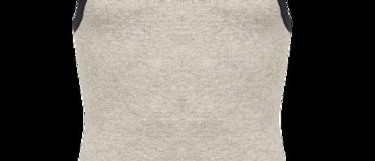Men's Grey Cotton Solid Sleeveless Sports Vest