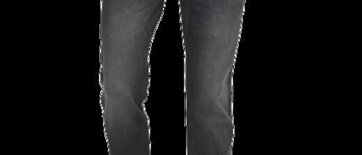Men's Black Denim Faded Regular Fit Mid-Rise Jeans