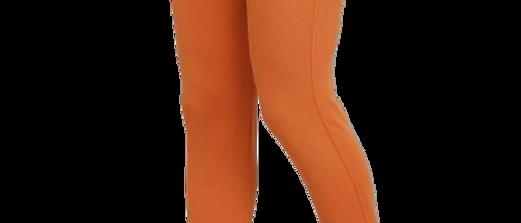 Men's Orange Cotton Spandex Solid Regular Fit Track Pant