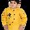 Thumbnail: Stylish Cotton Blend Yellow Solid Mandarin Collar Full Sleeves Shirt For Boys