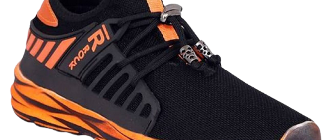 Men's Stylish and Trendy Black Printed Mesh Casual Gym & Sports Shoes