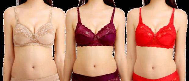 Women Cotton Bra Panty Set for Lingerie Set  ( Pack of 3 )