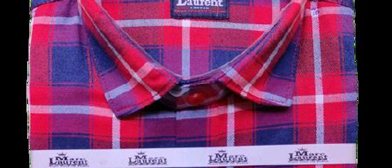 Stylish Men Red Checked Shirt