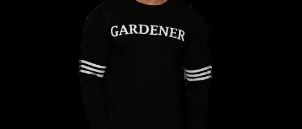 Men  Black Printed Cotton Blend Round Neck Tshirt