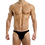 Thumbnail: Men's Black Cotton Spandex Solid Brief