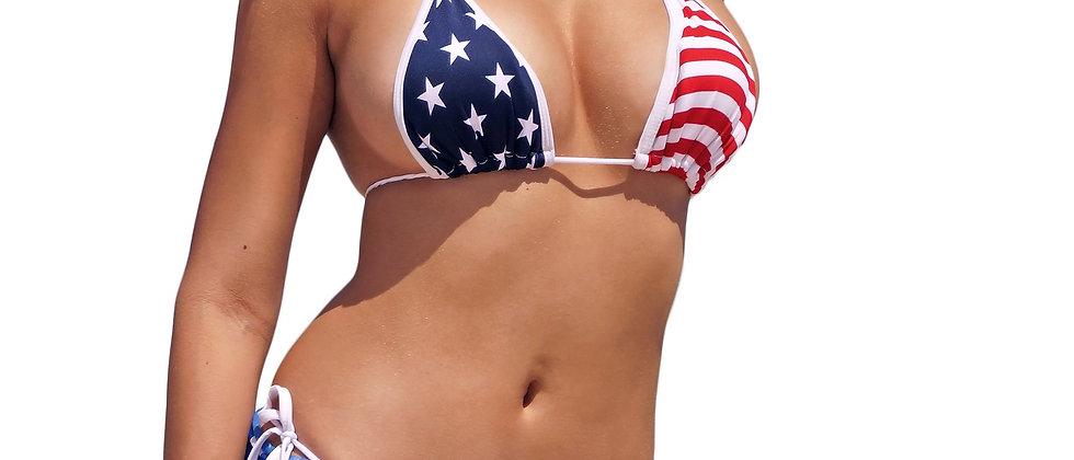 USA Flag Short Sarong