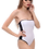 Thumbnail: Berry's Intimatess White/Black Tube Top One Piece Swimsuit