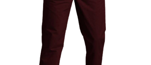 Stylish Cotton Maroon Solid Trouser For Men