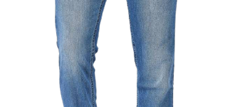 Stylish Cotton Stretch Regular Fit Indigo Blue Jeans For Men