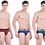 Thumbnail: Force NXT Men's Cotton Urban Brief  Multicoloured (Pack of 3)