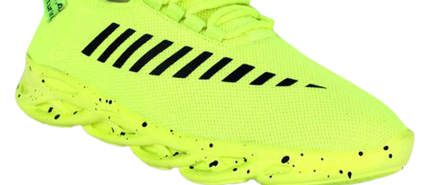 Relaxed Trendy Men Green Sports Shoes
