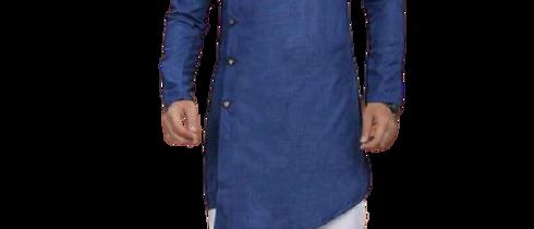 Fashionable Men Blue Kurta Sets