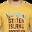 Thumbnail: Men's Yellow Printed Cotton Round Neck TShirt