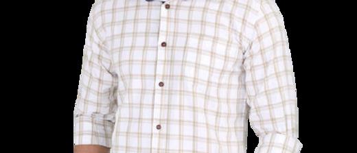 Stylish White Men Checks Shirt