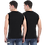 Thumbnail: Men's Solid Round Neck Cotton Muscle Vest Pack of 2