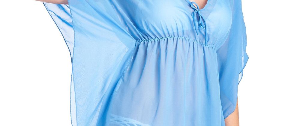 Chiffon Dress V-Neck