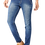 Thumbnail: Stylish Cotton Knitted Stretch Regular Fit Indigo Blue Jeans For Men