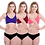 Thumbnail: Women Cotton Bra Panty Set for Lingerie Set  ( Pack of 3 )   Size:  32(Bust - 32