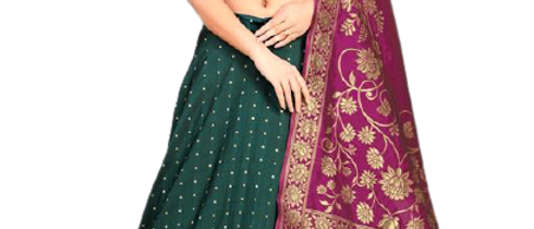 Superior Women Green Lehenga