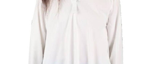 Big Size White Tops for Women