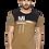 Thumbnail: Men's Khaki Printed Cotton Round Neck T-shirt