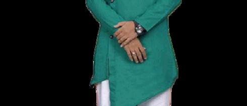 Fashionable Men Green Kurta Sets