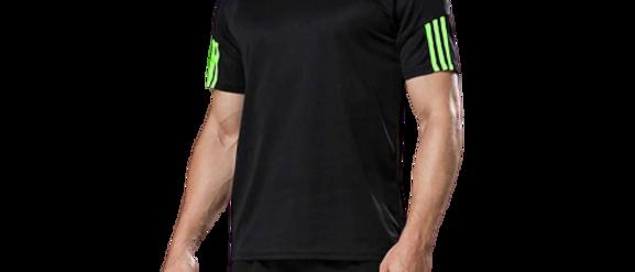 Men's Sports T Shirt & Shorts Set - Black