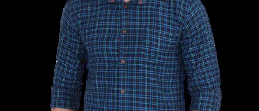 Men Checks Blue Shirt