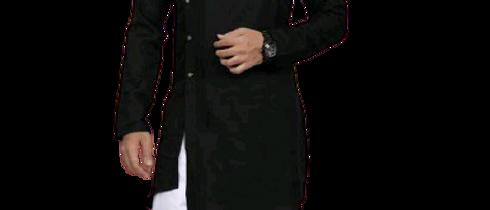Fashionable Men Black Kurta Sets