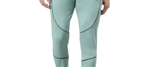 Multicoloured Cotton Spandex Colourblocked Regular Fit Track Pants