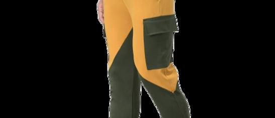 Multicoloured Cotton Spandex Colourblocked Gym Fit Track Pants