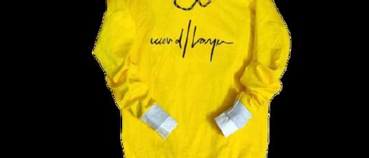 Men Sweatshirts White & Yellow Hoodies