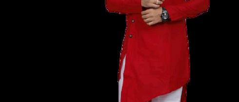 Fashionable Men Red Kurta Sets