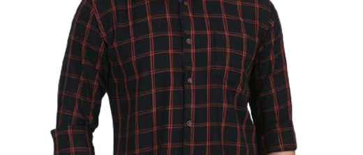 Men Black Checks Shirt