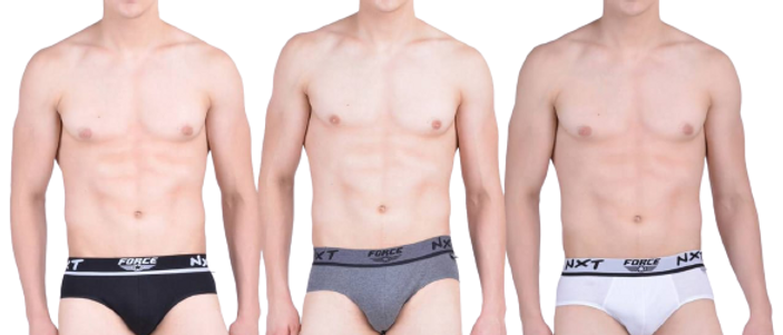 Force NXT Men's Cotton Urban Brief  Multicoloured (Pack of 3)