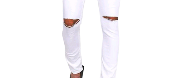 Men's Stylish Denim Solid White Jeans