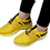 Thumbnail: Men's Stylish and Trendy Yellow Printed Mesh Casual Gym & Sports Shoes