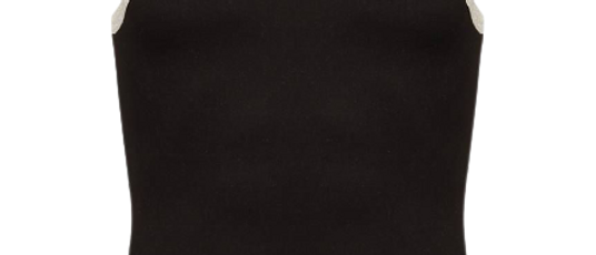 Men's Black Cotton Solid Sleeveless Sports Vest
