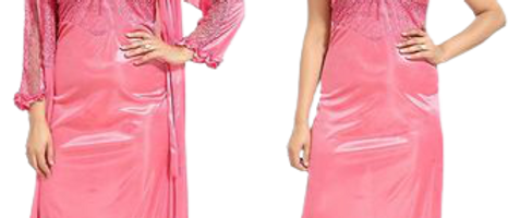Fomti Women Trendy 2 PC's Satin Nightwear Set