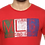 Thumbnail: Men's Red Printed Cotton Round Neck Tees