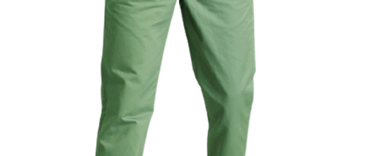 Stylish Cotton Green Solid Trouser For Men