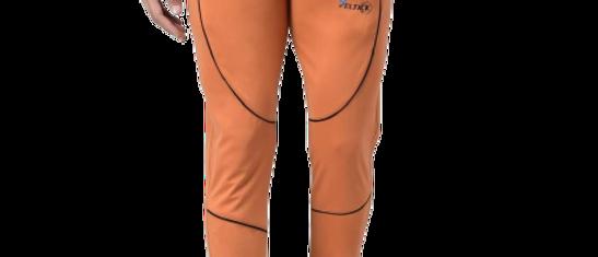 Orange Cotton Spandex Solid Gym Fit Track Pants