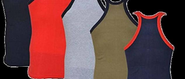 Pack Of 4 Solid Cotton Gym Vest for Men's