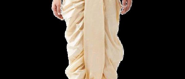 Men's Cotton White Dhoti