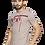 Thumbnail: Men's Grey Printed Cotton Round Neck T shirt