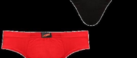 Men's Multicoloured Cotton Basic Brief Set Of 2