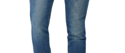 Stylish Cotton Knitted Fit Indigo Blue Jeans For Men